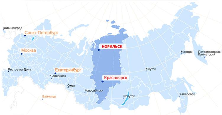 Норильск где он находится
